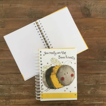 Bee Spiral Journal by Alex Clark